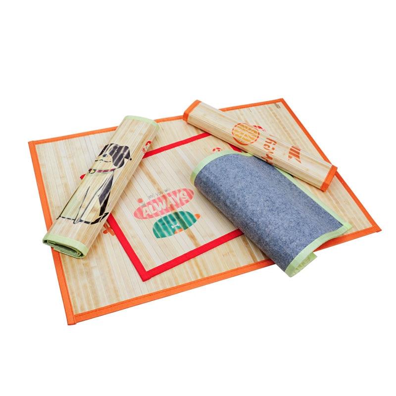 Pet Mat Dog Mat Bed for Home Summer Cool Cat Pad Bamboo Dog Bowl Lemon Sun Cat Mats Size S M L Puppy Bed Pet Cat Supplies