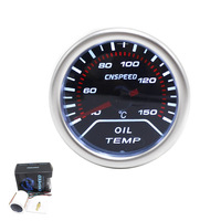 CNSPEED Envío Libre 52mm lente Humo puntero medidor De temperatura del Aceite Del Coche grado Celsius de Temperatura de Aceite meter/auto calibre/metro del coche