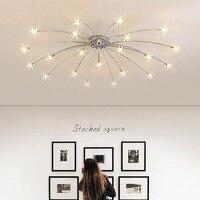 Современные звезды потолочный светильник для Гостиная Спальня Детская комната G4 лампы украшения дома светильники