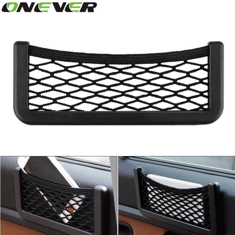 onever auto storage mesh net bag holder pocket organizer auto interior accessories car organizer. Black Bedroom Furniture Sets. Home Design Ideas