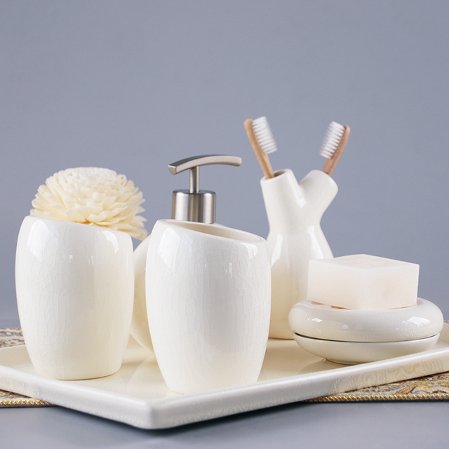 China Ice ceramics Bathroom Accessories Set Soap Dispenser ... on white kitchen sets, white furniture sets, bath accessories collections sets, white bakeware sets, white comforters sets, white luggage sets, white bath accessories, white cookware sets, white cutlery sets, white bedroom sets, white curtains sets, white sheets sets, shower accessories sets,