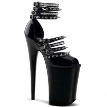 14 Color Woman Shoes Summer High Heel 20cm Sexy Slim Party Peep-toe Sandals Red bottom High Heels Rock Extreme Fetish High Heels