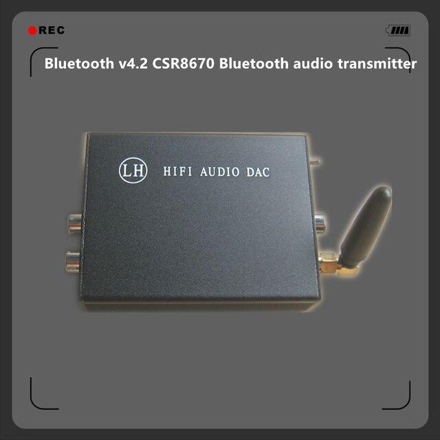 US $42 75 5% OFF Bluetooth v4 2 CSR8670 Bluetooth Wireless APTX Lossless  Audio Transmitter , RCA / Optical / Coaxial transform Bluetooth Audio-in