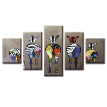HD Printed Abstract zebra Canvas Painting on the Wall Art Modular Pictures framed 5 Pcs Home Decor Posters