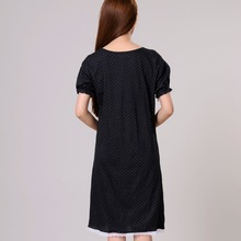 Women Nightgowns Female Sleepshirt Spring 2018 New  Summer 100% Cotton Lady Nightdress Mum Lounge S M L XL Black Blue White