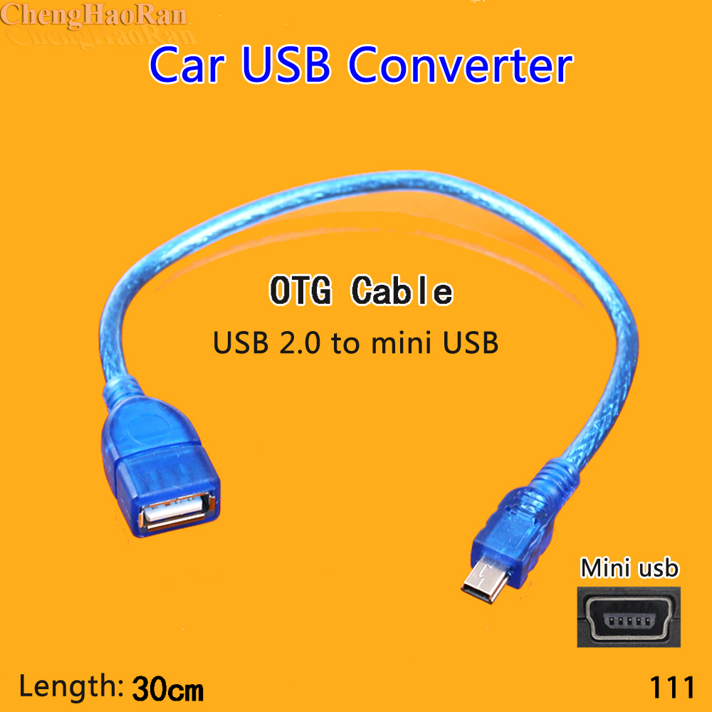 1pcs Portable Car OTG Data Cable Mini USB 2.0 Car Audio U Disk OTG Cable USB Flash Drive Disk OTG Cable For MP3 MP4 Smart Phone