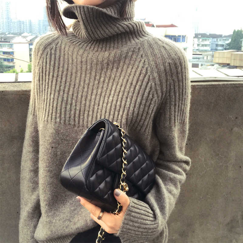 Women Sweater 2019 New Spring High-Quality Turtleneck Long Sleeve Soft Cashmere Sweater Female Fashion Warm Solid Knit Pullover