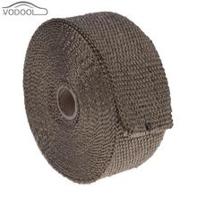 10m Glass Fiber Heat Insulating Wrap Tape Heat Exhaust Pipe Resistant Fireproof Cloth for Car Automobiles