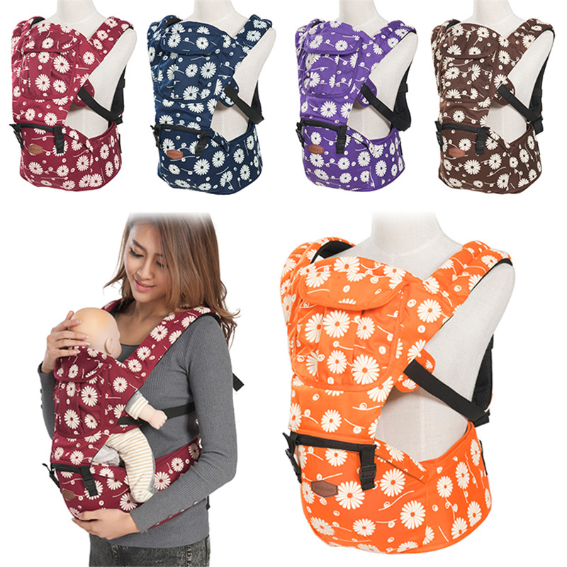 New 1 Pcs Ergonomic Baby Carrier Breathable Backpack Hip Seat Baby Infant Printing Baby  ...