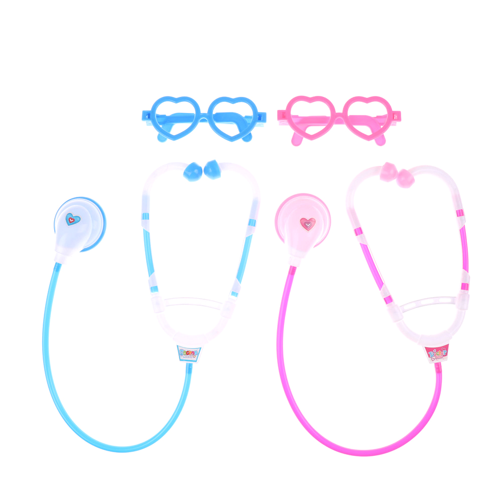 Doctor Play Stethoscope Toys For Child Medical Kit Baby Educational Pretend Classic Gift