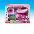 Niños pretend play toys lavado máquina de coser electrodomésticos muebles de hierro toys set eléctrico music play house toys regalos de los niños