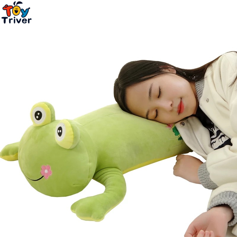 Soft Plush Big Eye Green Frog Toy Stuffed  Dolls Long Pillow Cushion Baby Kids Children Birthday Gift Home Shop Decoration 2017 hot sale plush soft toys doll stuffed animal toy plush green frog dolls with sucker for baby kids pillow christmas gift