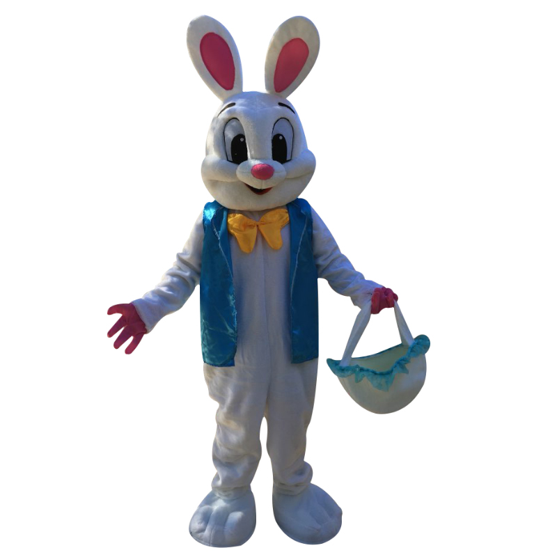 Fancy dress Easter bunny Mascot costume Rabbit mascot costume for adult animal white dress Halloween Purim