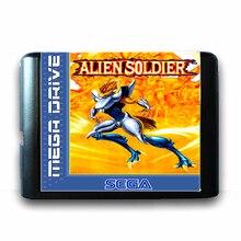 Alienígena Soldado de 16 bits da Sega MD Cartão de Jogo para o Mega Drive para Genesis