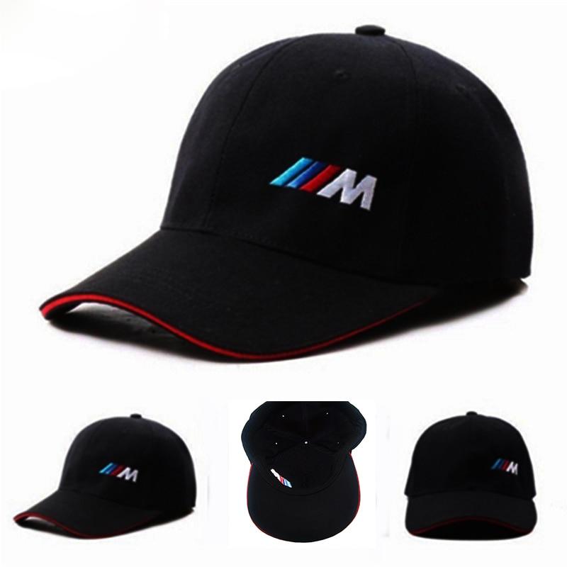 Car Styling Emblem Baseball Cap Hat Men Cotton Car logo M performance hat for bmw M3 M5 3 5 7 X1 X3 X4 X5 X6 330i Z4 GT e39 e46 1pc car sticker for bmw motorcycle car styling stall paste m logo interior gear head stickers fit for bmw m3 m5 m6 x1 x3 x5 x6
