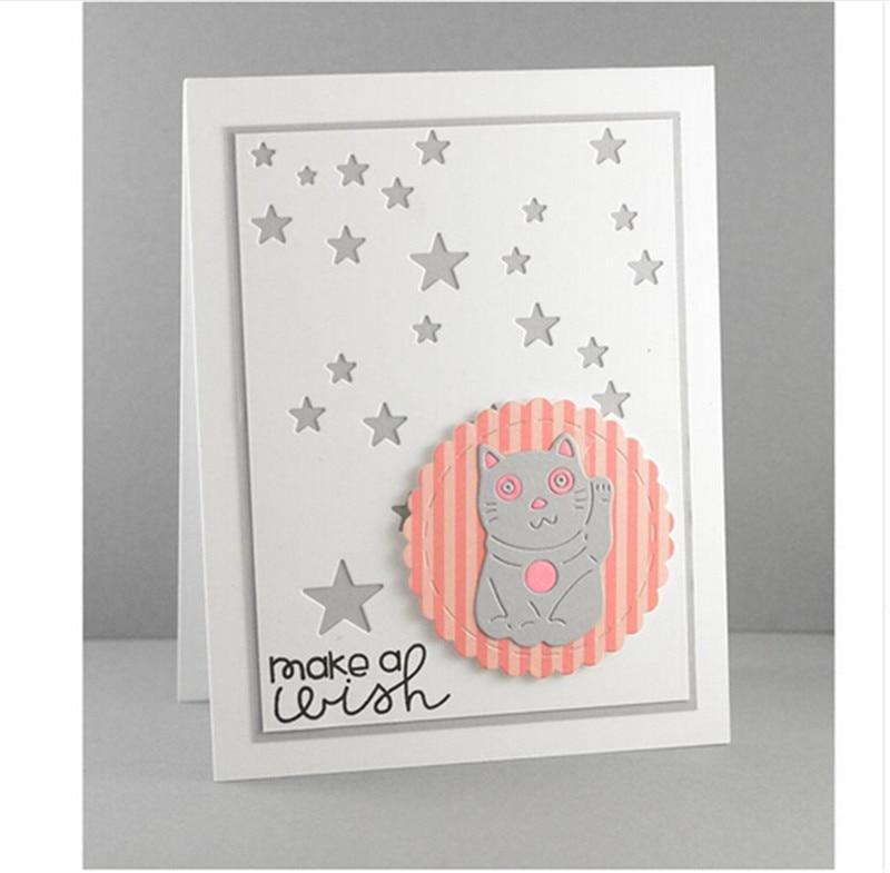 Cute Fortune Cat Metal Cutting Dies Stencils For Card Making Decorative Embossing Suit Paper Cards DIY Dies Scrapbooking Art