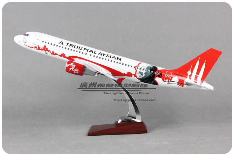 47cm Resin Air Asia Airways Airplane Model Mahathir A320 Asian Airlines Model A True Malaysian Airbus Aircraft Plane Model 1:80 gjaal1341 geminijets american airlines n401yx 1 400 erj 170 commercial jetliners plane model hobby