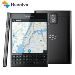 Оригинальный разблокирована Blackberry паспорт Q30 4 ядра LTE 3 GB Оперативная память 32 ГБ Встроенная память 13.0MP BlackBerry OS сотовый телефон Бесплатная