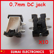 0.7mm MINI dc jack Charging Power wire plug for Tablet charge netbooks power jack 10lap-top-ss/lot