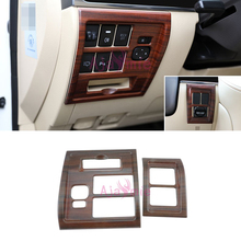 2016-2018 Interior Wood Color Dashboard Fog Lamp Switch Cover Overlay Panel Car Styling For Toyota Land Cruiser 200 Accessories