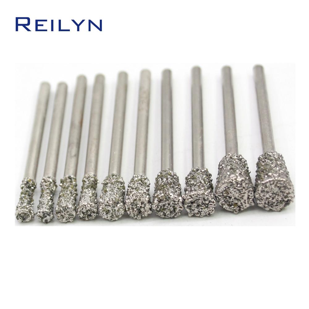 Grube ziarno szorstki gryzący diamenty ścierne igły do obierania igły typu C7 płaski koniec szlifierki / dremel / narzędzia obrotowe