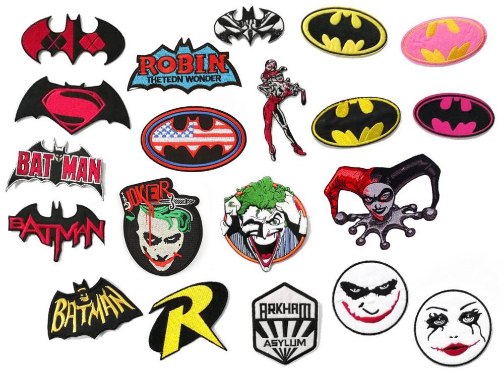 Batman fer sur patchs brodé super héros biker gilet badge accessoires à créer soi même pour tissu en gros-in Patches à coudre from Maison & Animalerie    1