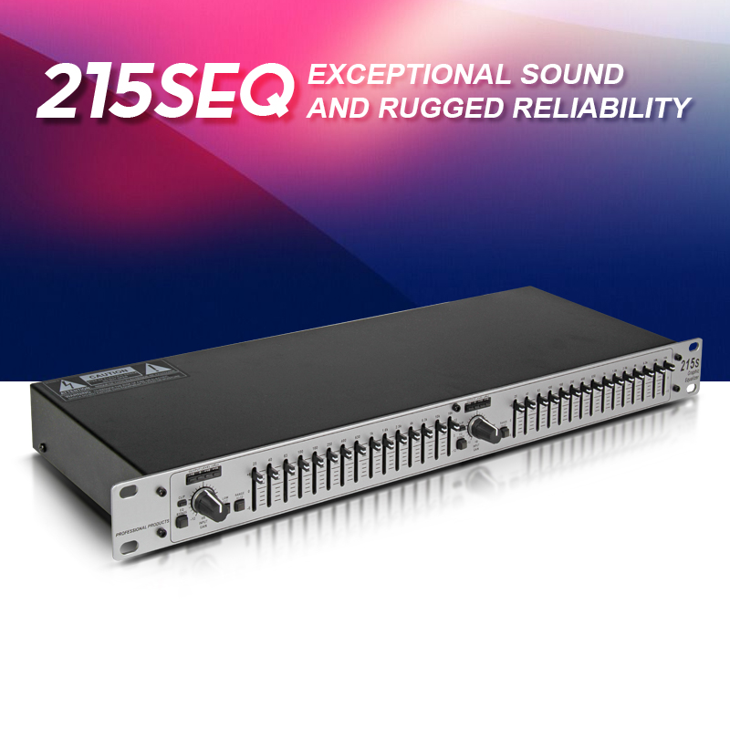 Top quality 215S EQ Dual 15 band Graphic Equalizer Digital Audio Processor Professional Stage Performance Conference