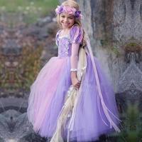 2018 Baby Girls Dress Christmas Anna Cosplay Costume Elsa Dresses Girl Princess Dress For Birthday Party