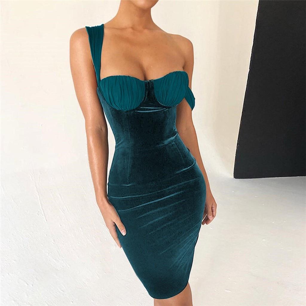 New Dress 2019 vestidos femininos Fashion Women Sexy  Slim Zipper Solid Color Bodycon Party  Casual  Mini Dress