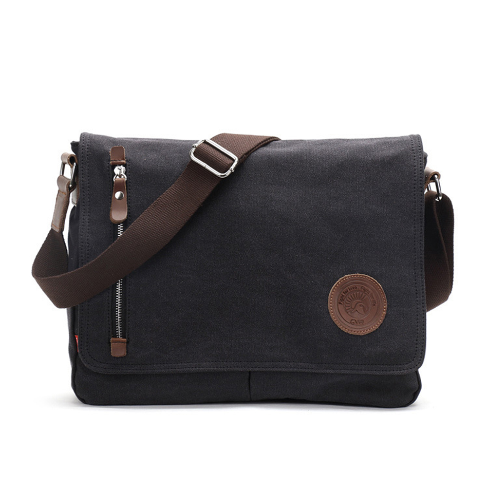 AUGUR Canvas Business Bag Male Fashion Handbag Shoulder Bags Men Crossbody Bag Fit for 10 inch Mini Pad Vintage Messenger Bags augur fashion men s shoulder bag canvas leather belt vintage military male small messenger bag casual travel crossbody bags