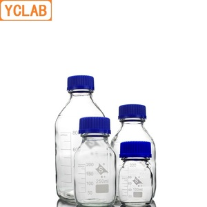 Image 2 - YCLAB 500mL Reagent Bottle Screw Mouth with Blue Cap Boro 3.3 Glass Transparent Clear Medical Laboratory Chemistry Equipment