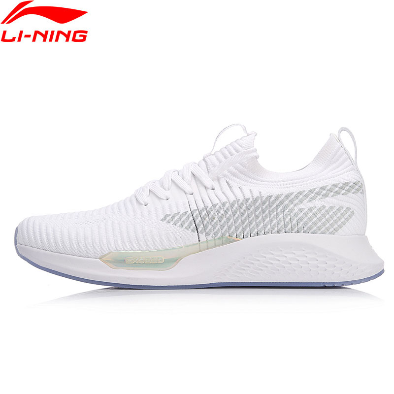 Li-Ning Women EXCEED LT Lifestyle Shoes Mono Yarn Breathable Walking Sneakers LiNing Li Ning Comfort Sport Shoes AGCN048 YXB152