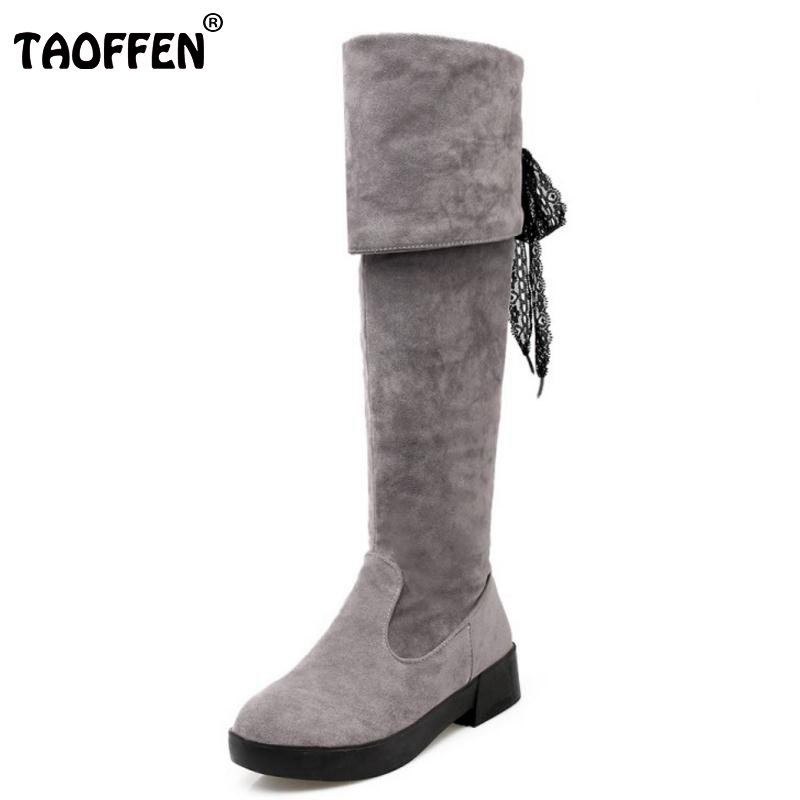 Women Boots Winter Ladies Fashion Flat Boots Shoes Over The Knee Thigh High Suede Long Boots Brand Designer Size 34-43 yuanting wang does confucius xiao travel across time and languages