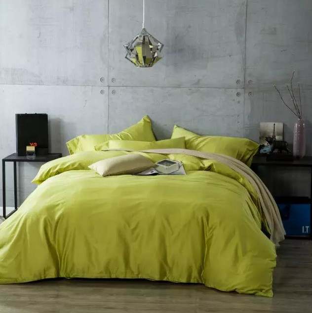 Egyptian Cotton Sheets Bedding Sets Green Yellow