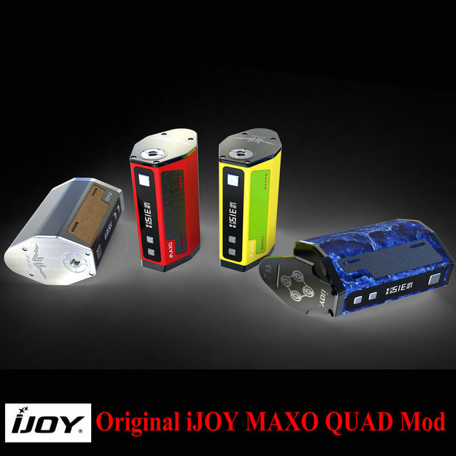 Оригинал IJOY MAXO QUAD 18650 TC Окно Мод 315 Вт Обновление Vape Электронная Сигарета Контроля Температуры Моды