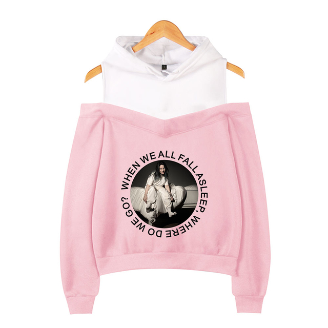 BILLIE EILISH OFF SHOULDER HOODIE (12 VARIAN)