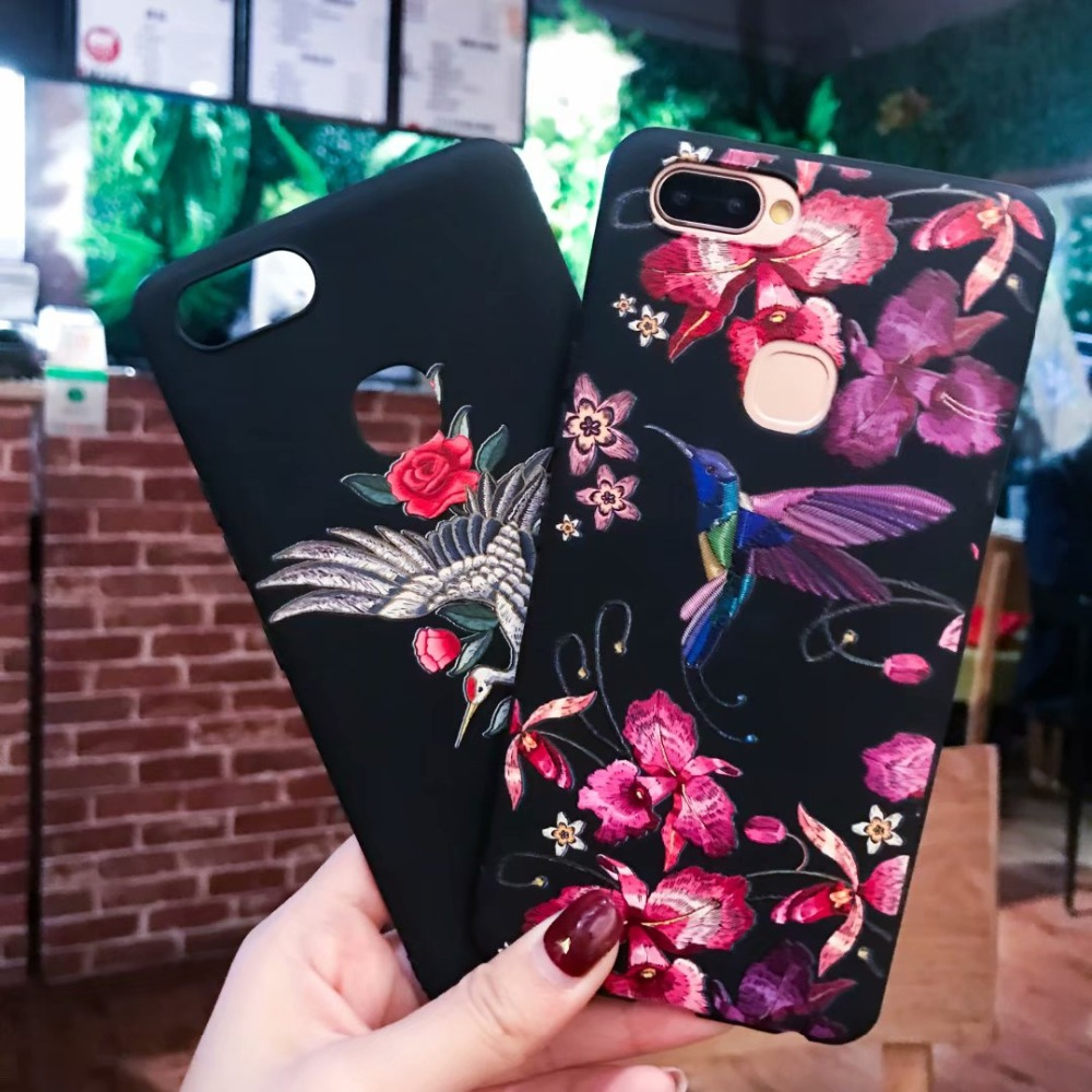 3D Relief Flower Rose Cartoon Soft TPU Phone Case For Xiaomo Redmi