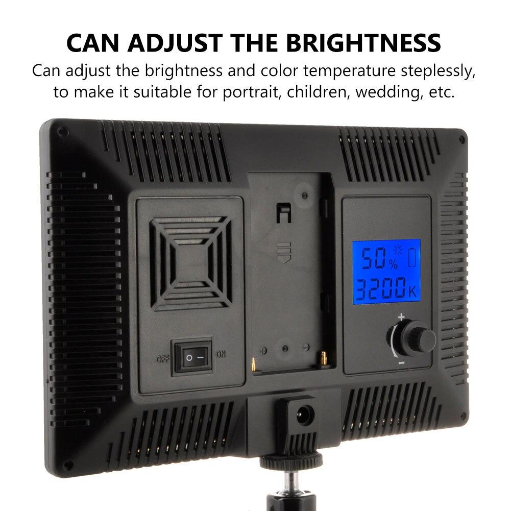 TSLEEN Ultra-mince 980lm LED lumière vidéo photographie lumière de remplissage Dimmable 3200 K-6200 K pour Canon Nikon Sony Panasonic appareil photo reflex numérique - 4