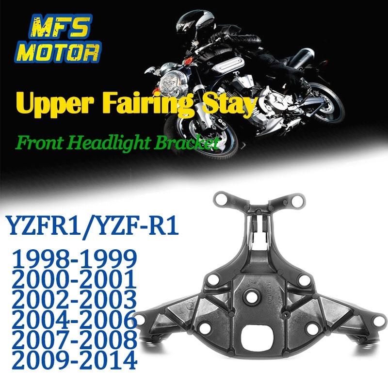 For 98-14 Yamaha YZFR1 YZF R1 Upper Fairing Stay Front Headlight Bracket 1998 1999 2000 2001 2002 2003 2004 2005 2006 2007-2014