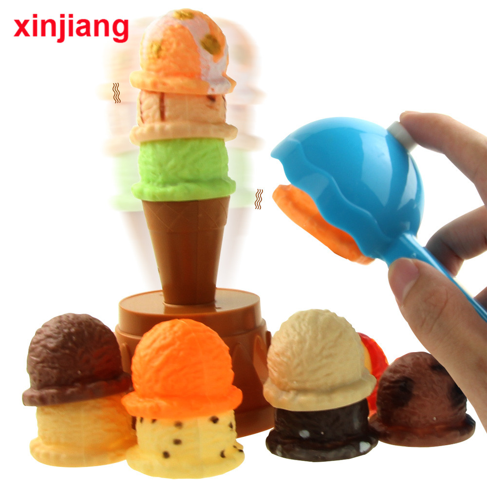 Simulation Miniature Food Ice Cream Stack Up Play Kitchen Toys Pretend Play Education Toy Gifts For Children Girls >
