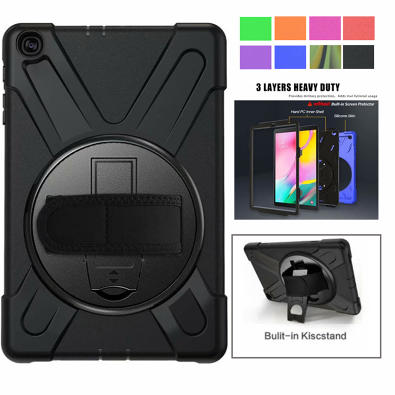 For Galaxy Tab A 10.1 2019 Case, Shockproof High Impact Resistant Heavy Duty Armor Cover for Samsung Galaxy Tab A 10.1 T510 T515 image