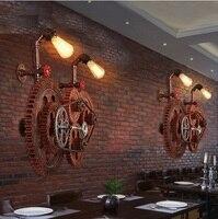 Przekładnie przemysłowe loft w stylu vintage ściana światło dla domu antyczne edison kinkiet lampka nocna lampora wodociąg pared