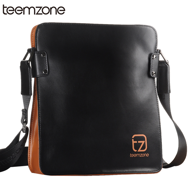 ad225136e38 European and American Minimalist Style teemzone Men Genuine Leather  Messenger Shoulder Bag Satchel Cross Body Shoulder Bag T0758