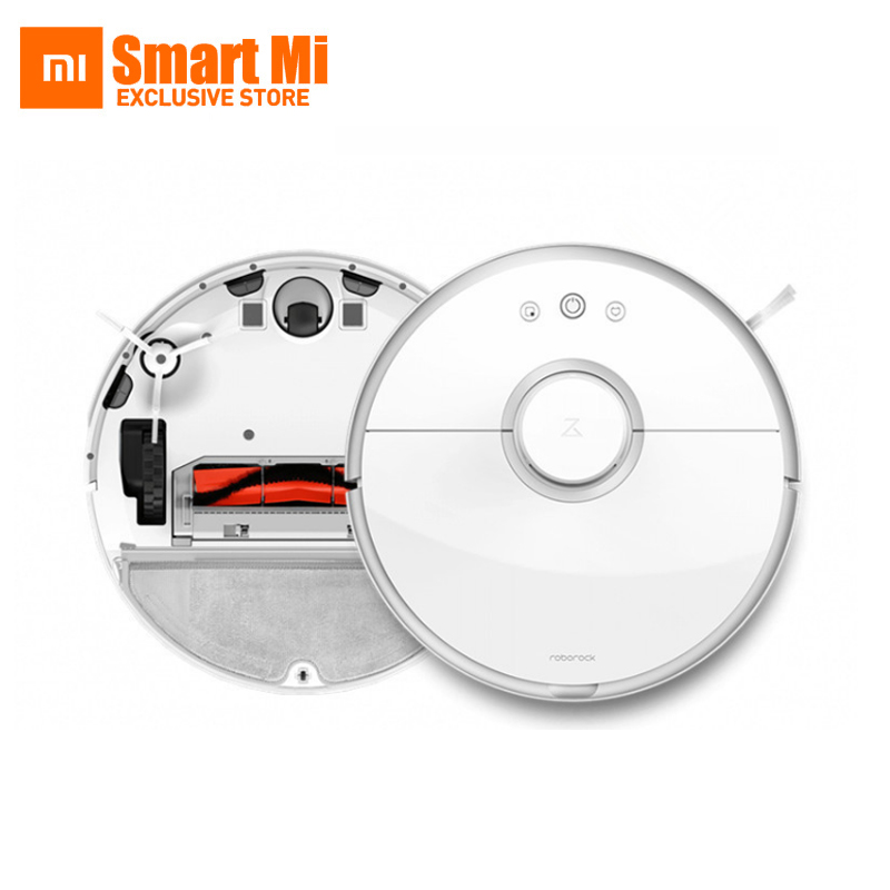 New Original XIAOMI Roborock s50 Robot Cleaner 2 Smart Cleaning for Home Office Automatic Sweep Wet Mopping App Control jisiwei 2017 s smart robotic vacuum cleaner for home mobile app remote control tpu avoidance sensor hd camera robot mopping tool