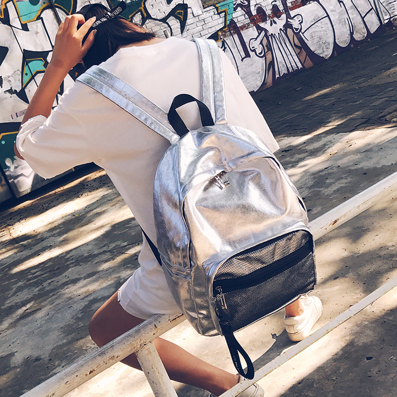 New Women Nylon Backpack Casual Simple Style School Bag for Teenage Girls Fashion High Quality Large Capacity Travel Bag women back bag high quality mochila new 2017 women s backpack for teenage girls waterproof nylon preppy style school bags