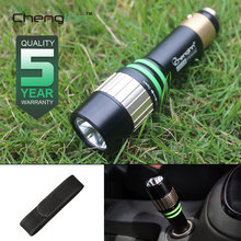Chenglnn LED Flashlight Self Defense Rechargeable Convoy Led Car Flash Light Torch Cree XP-E 14500 Battery Car Lighter Lanterna