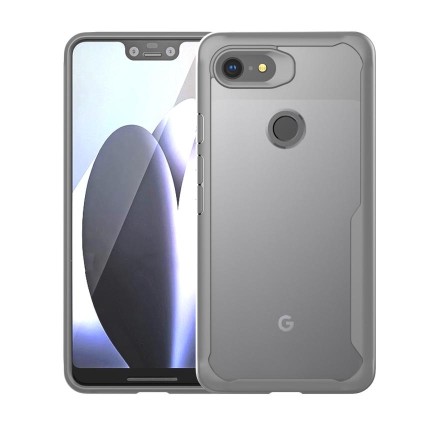 1Pcs Cover For Google Pixel 3 Soft Bumper Frame Clear Hard PC Shockproof Case For Google Pixel 3 XL