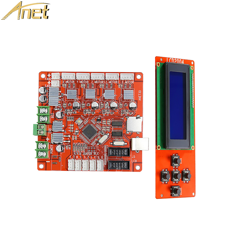 Hot Sale Anet A8 3D Printer board Parts Anet V1.5 Control Motherboard with LCD Screen 2004 for Anet A8 3D Printer accessories flashforge 3d printer parts accessories customized control panel lcd kit new creator pro 3d printer parts