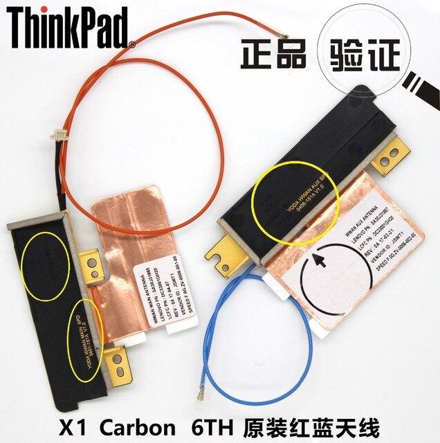 2 pçs/lote JINYUSHI Para Novo & Original ThinkPad X1 Carbono X1C 6TH gen 2018 WWAN L830-EB L850-GL módulo Red & azul antena LTE