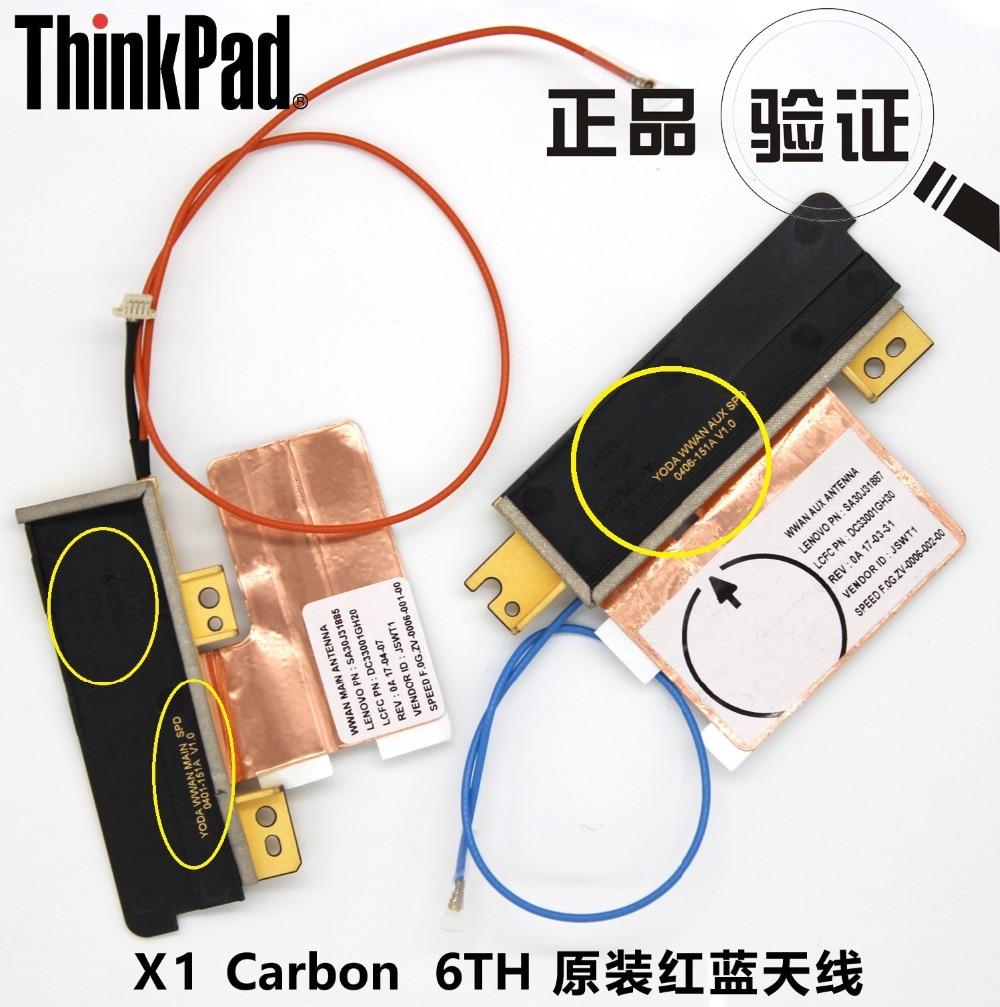 2pcs/lot  JINYUSHI For New&Original ThinkPad X1 Carbon X1C 6TH Gen 2018 WWAN L830-EB L850-GL Module Red&Blue LTE Antenna